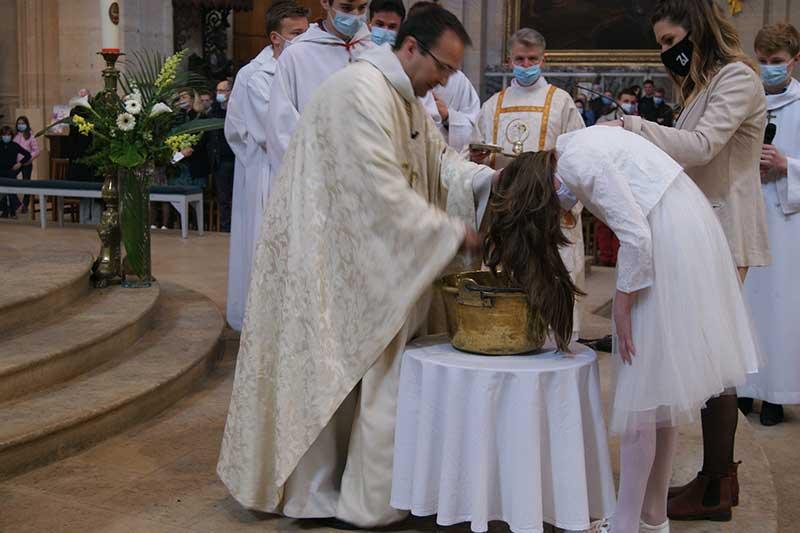 Baptême catéchumène Cathédrale